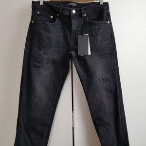 NWT Zara Slim Boyfriend Jeans Eden Black 2
